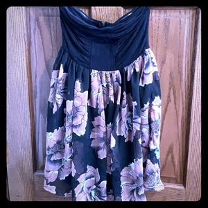 Wet Seal Large Floral Strapless Dress